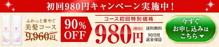 初回980円セール中♪